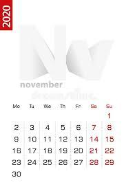 November 2020 Calendar Clip Art Minimalist Calendar Stock Illustrations 1 433 Minimalist