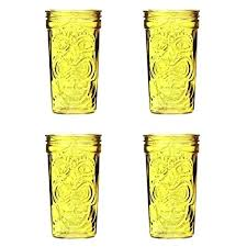 amici home glasses global oz set of 4 sunshine yellow wine coolest drinking amici home glasses
