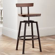 adjustable height swivel bar stool. Amazon.com: Roark Dark Wood Hammered Bronze Adjustable Swivel Barstool: Kitchen \u0026 Dining Height Bar Stool