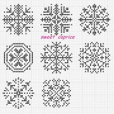 雪の結晶 Tablolar クロスステッチ雪 デザインくるみボタン 刺繍