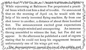 edgar allen poe essays chronicles of a runaway poet creative  edgar allan poe s apocryphal fool hoax clipping from lectures and essays 1889