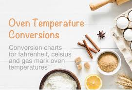 Fan Oven Conversion Chart Oven Temperature Conversions Fahrenheit Celsius Gas Mark