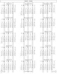 free year calendar 2015 15 month school year calendar 2015 2016