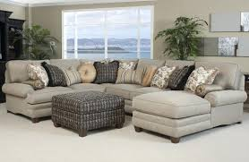 stylish living room furniture. Living Room Sectional Sofa With Chaise Stylish Bone Black Coffee Table Pillows And Plant Decor Furniture