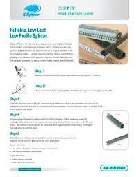 Clipper Lacing Chart Clipper Hook Selection Guide Flexco Pdf Catalogs