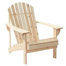 unfinished stationary wood outdoor adirondack chair 2 pack