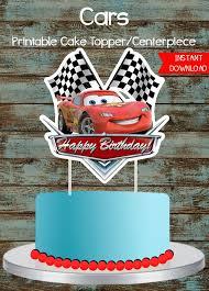 Cars Cake Topper Disney Cars Printable Cake Topper Lighting Etsy