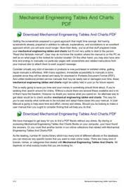 Mechanical Engineering Tables And Charts Gzjy168 Net