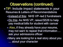 Nhs Resumes Picking The Right College Finding Some Money To Pay For It David G