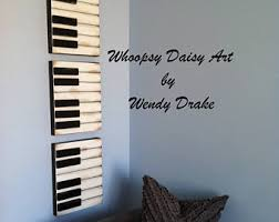 music inspired furniture. vintage inspired piano wall decor music room art painting furniture