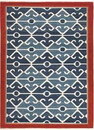 jaipur anatolia flatweave blue patterned modern rug
