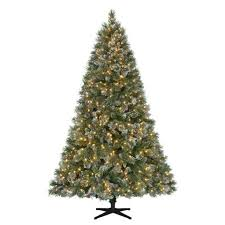 ... Artificial Christmas Tree. Martha Stewart Living 7.5 ft. Pre-Lit LED  Sparkling Pine Quick-Set Artificial