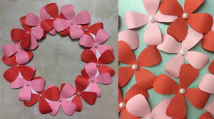 paper flower wall hanging diy wall decoration hanging flowers paper crafts ideas