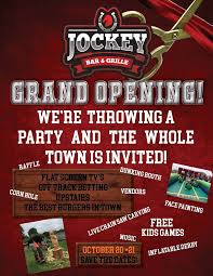 bar grand opening flyer grand opening jockey bar grille