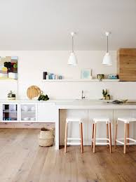 White wood kitchen Handleless See Also My Karma Stream White And Wood Is The Trendiest Combination For Kitchen Design
