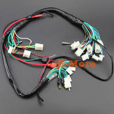 electric start wiring harness wire loom pit bike atv quads 50 70 Engine Wiring Harness at Pit Bike Wiring Harness Kits