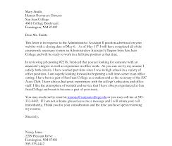 Cover Letters Samples For Administrative Assistant Letter Guide