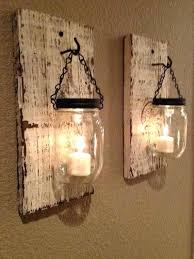 mason jar sconce wood working projects recycled pallet wall art ideas for enhancing y mason jar mason jar sconce rustic hanging