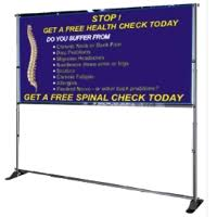 Horizontal Banner Display Stand RollUp Banner Stands 2