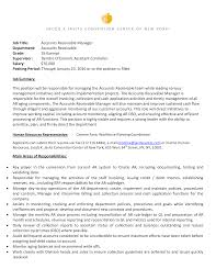 Account Receivable Resumes Account Receivable Manager Resume Templates At
