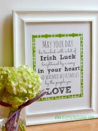 on irish blessing wall art with irish blessing printable for st patrick s day