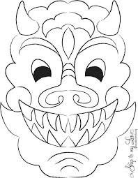 template of a dragon template dragon mask template chinese new year its the of celebrate