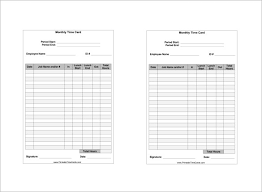 timecard with lunch breaks 8 printable time card templates free word excel pdf format