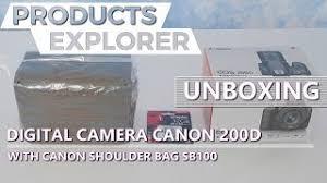 Digital Camera Canon 200D with <b>Canon Shoulder Bag SB100</b> ...