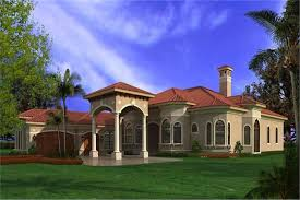 107 1020 5 bedroom 6095 sq ft spanish house plan 107 1020 front