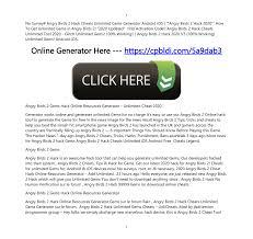 No Survey# Angry Birds 2 Hack Cheats Unlimited Gems Generator ...
