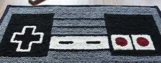 Soft and Dreamy Retro NES Nintendo Controller Rug from WTCrafts
