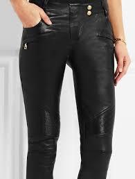 las black stretch leather skinny pants women fashion moto stretch cotton biker jeans
