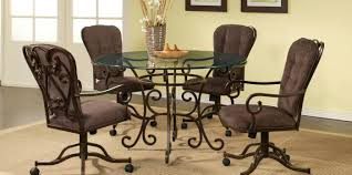 ... Kitchen Chairs With Rollers Kitchen Chairs With Casters Used Curved  Wrought Dining Chairs With ...