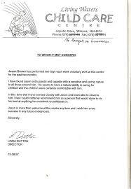 Sample Reference Letter For Child Care Worker Reference Letter