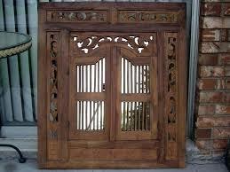 vintage wooden shutters antique wooden shutter vintage large carved wood shutter wall hanging mirror home cabin