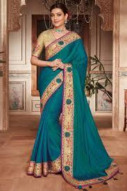 Stunning Designer Sarees Stunning Blue Designer Plain Saree