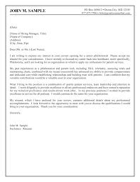 Cover Letter Sample Of Cover Letter For Resume Sample Of Cover