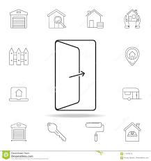 open door icon set of real estate element icons premium quality graphic design