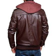 hooded leather jacket zoom zoom high street
