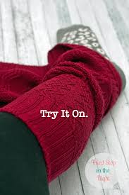 make boot cuffs from an old sweater save bootcuffpic2