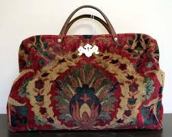 carpet handbag. adore this one - looks to be made from a real carpet handbag e