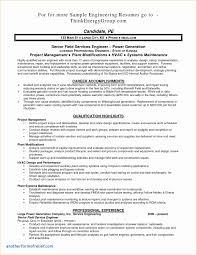 Free Professional Resume Reliability Report Template New Resume Maintenance Engineer Free 95