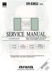 aiwa xr em52 manuals aiwa xr em52 service manual