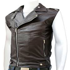 a stylish leather vest for men