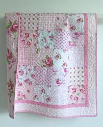 Best 25+ Baby girl quilts ideas on Pinterest | Baby quilt patterns ... & Adorable Baby Girl Quilt with Tiny Pink by KimsQuiltingStudio Adamdwight.com