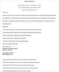 Preschool Teacher Resume Sample Preschool Teacher Resume 6 Examples In Word Pdf