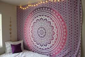 purple ombre mandala cotton wall tapestry bedding on wall art tapestry hangings with purple ombre mandala cotton wall tapestry bedding royalfurnish