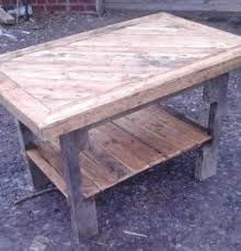 pallet furniture coffee table. Reclaimed Pallet Coffee Table With Lower Shelf Furniture .
