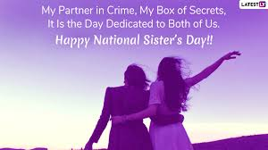 Sisters Day 2019 Greetings And Instagram Captions Whatsapp
