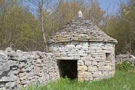 Small stone house Modern Stock Photo The Kazun Is Small Stone House In The Istrian Countryside Which Protected The Shepherds And Animals Of Istria From The Weather Can Stock Photo The Kazun Is Small Stone House In The Istrian Countryside Stock